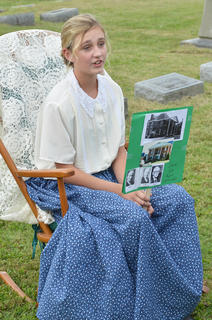 Reagan Mardis portrays Mary Emma Wade Kerr, the wife of Sam Ed Kerr.