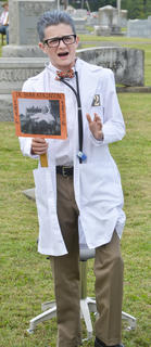 Bryce Richardson portrays Dr. Burr Atkinson, longtime doctor in the Taylor County community.