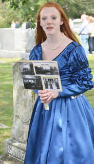 Madison Jones portrays the spirit of the late Ann Mary Patteson Sanders, who died in 1905.