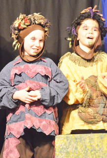 Jenna Mullins, at left, and Isaac Billeter portray rascals.