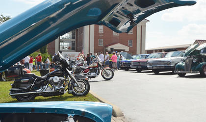 About 130 people entered their cars in this year's CU homecoming car show.