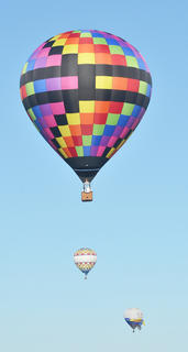 CKNJ Staff Writer Calen McKinney and hot air balloonist John Herbst take off from Taylor County Airport in a hot air balloon.