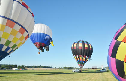 Several people went up in the air for hot air balloon rides last Saturday morning.