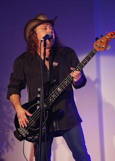 Bryan Graves portrays Randy Meisner/Timothy B. Schmit as 7 Bridges, The Ultimate Eagles Experience, kicks off the 2017 Central Kentucky Art Series Tuesday night at Campbellsville University's Ransdell Chapel.