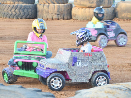 Before the official demolition derby kicked off on Friday night, local children got to participate in their own derby.