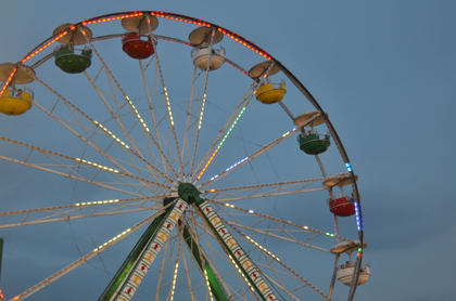 The Ferris wheel is a popular attraction at this year's Taylor County Fair.
