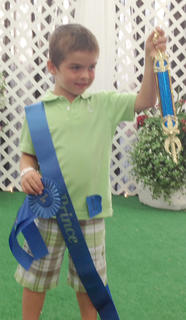 The winner in the 4-year-old boys category in the Miss and Mister Toddler Taylor County Fair pageant was Jayden Elmore.