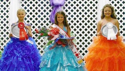 Winners of the Miss Pre-Teen Taylor County Fair pageant are, from left, first runner-up Audrey Burton, Miss Pre-Teen Taylor County Fair Caitlyn Patterson and second runner-up Keily Johnson.