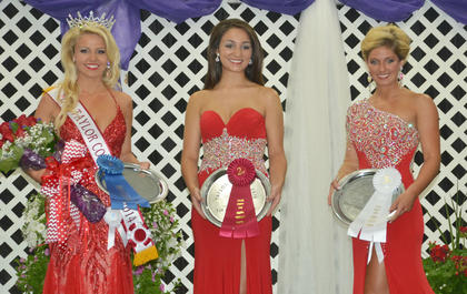 Winners of the Miss Taylor County Fair pageant are, from left, Miss Taylor Fair Kacie Wilson, first runner-up Kennedy Harbison and second runner-up Shelby Stringer.