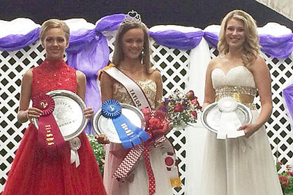 Winners of this year's Miss Teen Taylor County Fair pageant are, from left, first runner-up Kaylyn Loy, Miss Teen Taylor County Chloe Thomas and second runner-up Kelby Bucks.