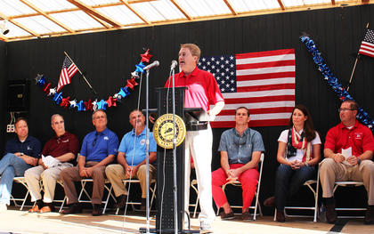 Kentucky Commissioner of Agriculture James Comer said during Friday's opening ceremonies that there is no better community to celebrate the Fourth of July than in Campbellsville.