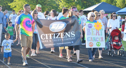 Citizen Bank and Trust Co's team walks a lap.
