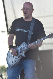"David ""BB"" Benningfield plays guitar for Rockcastle."