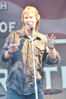 Troy Edelen sings lead vocals for Rockcastle.
