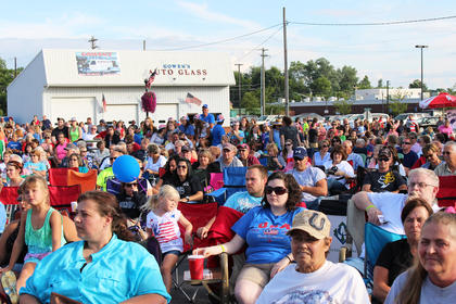 A large crowd enjoyed the three-hour K-Country Showdown.