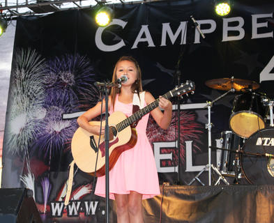 "Skylar Cain of Philpot performed the classic ""Hit Me With Your Best Shot."""