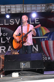 Ryan Clenny of Campbellsville sings an original song with his wife, Stephanie.