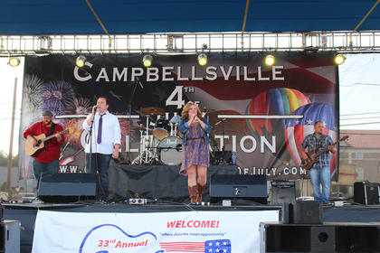 """Campbellsville band Blended performs """"How Sweet It Is,"""" made famous by soul singer Marvin Gaye."""