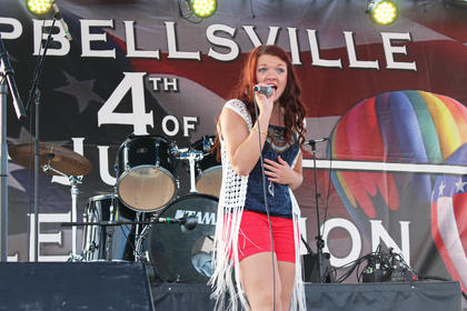 "Tori Cochran of Campbellsville sings The Band Perry's ""Chainsaw."""