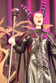 Andie Woodcox sings as Maleficent, who put a spell on Sleeping Beauty.