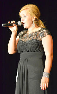 "Taylor Smoot, who took home the spirit award, sings ""Desperado"" by the Eagles."