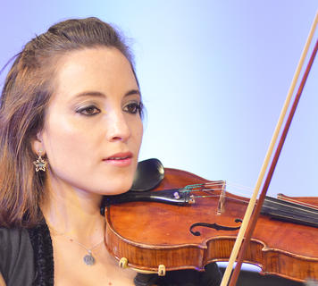 "University Orchestra member Maria Constanza Boso Galli or Salta, Argentina performs ""Celebrate the Christ."""