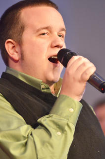 "Campbellsville Singers member Cole Torbert of Brentwood, Tenn. performs ""I'll Be Home for Christmas/Auld Lang Syne."""