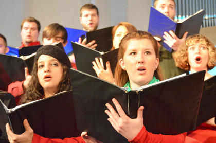 "Chamber Choir members perform ""Have Yourself a Merry Little Christmas."""