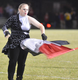 Brookylan Cox is a member of the TCHS color guard.