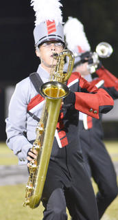 Clayton Rule plays saxophone for the TCHS band.