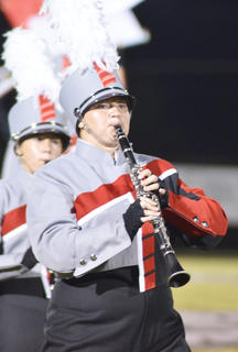 Brianna Handy plays clarinet for the TCHS band.