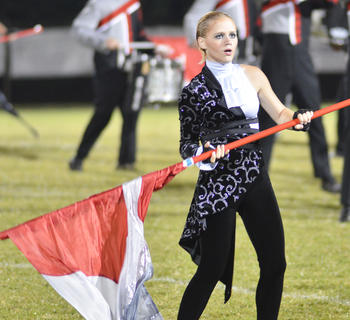Tori Daugherty is a member of the TCHS color guard.