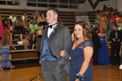 TCHS students Heaven Meadows and Tyler Bragg opted for matching shades of deep sapphire.