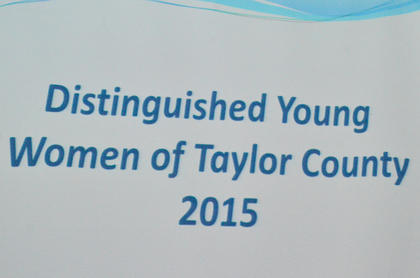 Twelve soon-to-be high school seniors participated in this year's Taylor County Distinguished Young Women program on Saturday night at Campbellsville High School. Kassie Miller was named the 2015 Taylor County Distinguished Young Woman.
