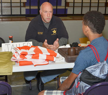 Taylor County Detention Center Lt. Paul Wise explains what it's like to spend time in jail to a CHS student.