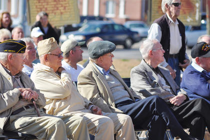 Local veterans at the ceremony.