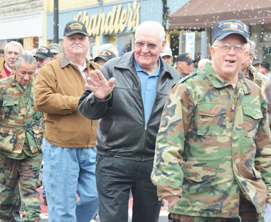 Vietnam veterans were honored in Campbellsville last weekend with a parade and ceremony in recognition of the 50th anniversary of the Vietnam War. Nearly 200 veterans attended, many from Campbellsville. Above, veterans walk in the parade in their honor.
