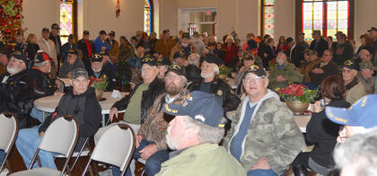 It was standing room only at Campbellsville Civic Center for the ceremony honoring Vietnam veterans.