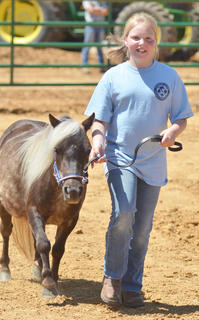 Breanna Sharp of Campbellsville participates in the youth horse show at the fair on Saturday.