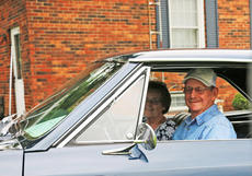 "<div class=""source"">Emily LaForme</div><div class=""image-desc"">Betty and Pete Gupton of Campbellsville sit in their old car for the first time in more than 36 years. They were reunited with the 1966 Chevrolet Chevelle SS by the current owner, Chuck Frame, a Toronto, Canada, native.</div><div class=""buy-pic""><a href=""/photo_select/67583"">Buy this photo</a></div>"