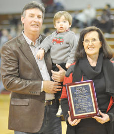 """<div class=""""source"""">Bobby Brockman</div><div class=""""image-desc"""">David Parsons, with wife Brenda and grand-son Campbell, was honored as Taylor County High School's inductee into the 2011 Fifth Region Athletic Directors' Hall of Fame.</div><div class=""""buy-pic""""><a href=""""/photo_select/27750"""">Buy this photo</a></div>"""