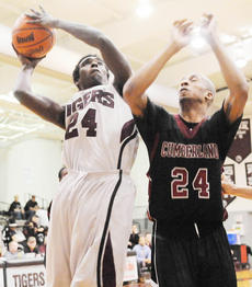 "<div class=""source"">Richard RoBards</div><div class=""image-desc"">Vernon Payne (24 in white) had 22 points and nine rebounds as Campbellsville University's men's team won at Bluefield (Va.) College 69-55 on Thursday night.</div><div class=""buy-pic""></div>"