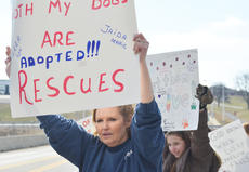 "<div class=""source"">Calen McKinney</div><div class=""image-desc"">Sandra Benton of Campbellsville holds a sign during Saturday's protest.</div><div class=""buy-pic""><a href=""http://web2.lcni5.com/cgi-bin/c2newbuyphoto.cgi?pub=085&orig=Shelter%2BProtest%2B%25232%2B8.jpg"" target=""_new"">Buy this photo</a></div>"