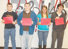"<div class=""source""></div><div class=""image-desc"">Taylor County High School recently named its Students of the Week for the week of Feb. 25 through March 4. They are, from left, freshman Cameron Wright, sophomore John Moore, junior Shelby Carney and senior Justin Vale.</div><div class=""buy-pic""></div>"