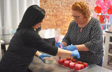 "<div class=""source"">Photo/ZAC OAKES</div><div class=""image-desc"">Shanon Camille O'Banion, left, and Andrea Harmon decorate cupcakes at their shop on East Main Street in Campbellsville.</div><div class=""buy-pic""><a href=""/photo_select/68489"">Buy this photo</a></div>"
