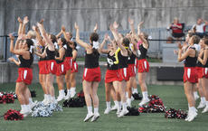 """<div class=""""source"""">photo/JOSH CLAYWELL</div><div class=""""image-desc"""">Taylor County cheerleaders cheer during Friday&#039;s game.</div><div class=""""buy-pic""""><a href=""""/photo_select/67543"""">Buy this photo</a></div>"""
