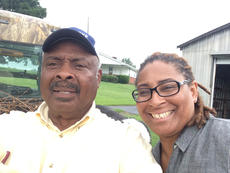 "<div class=""source"">Submitted</div><div class=""image-desc"">Clem Haskins poses with his daughter, Clemette, in a family photo taken on their farm in Campbellsville last summer. Clemette could not attend due to a scheduling conflict. She is an ordained minister at a church in California, and was attending a retreat with the church.</div><div class=""buy-pic""></div>"