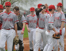 "<div class=""source"">Josh Claywell</div><div class=""image-desc"">Taylor County's D.J. Goodin is congratulated after hitting a home run against Adair County last week.</div><div class=""buy-pic""><a href=""/photo_select/66884"">Buy this photo</a></div>"