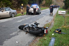 """<div class=""""source"""">Zac Oakes</div><div class=""""image-desc"""">A motorcycle wreck on Barney School Road last Thursday claimed the life of 46-year-old Bobby Veatch of Campbellsville</div><div class=""""buy-pic""""><a href=""""/photo_select/66258"""">Buy this photo</a></div>"""