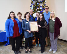 "<div class=""source"">Photo/SUBMITTED</div><div class=""image-desc"">The staff of the Taylor County Extension Office pose for a photo with the city/county proclamation issued by Taylor County Judge-Executive Eddie Rogers and Campbellsville Mayor Tony Young. From left, current Taylor County Extension Office staff Amanda Curry, Carolyn Morris, Audrey Myers, Gerald Gribbins, Kara Back, Amanda Sublett, Pat Hardesty, and Angela Freeman.</div><div class=""buy-pic""><a href=""/photo_select/68210"">Buy this photo</a></div>"